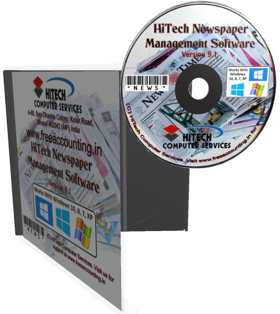 Business Management and Accounting Software for newspaper, magazine publishers. Modules : Advertisement, Circulation, Parties, Transactions, Payroll, Accounts & Utilities. Free Trial Download.
